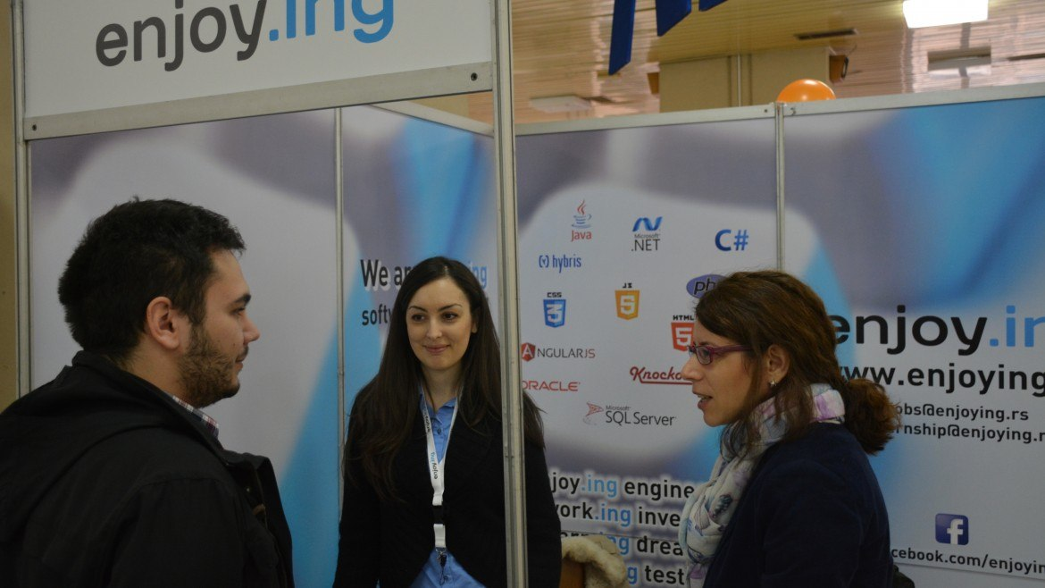 Job Fair Nis: Record-breaking number of students visited enjoy.ing booth!